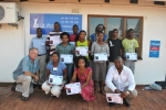 The trainees with their certificates after the two day business start-up course.